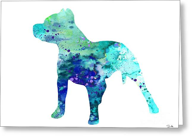 Pitted Greeting Cards - Pit Bull  Greeting Card by Luke and Slavi