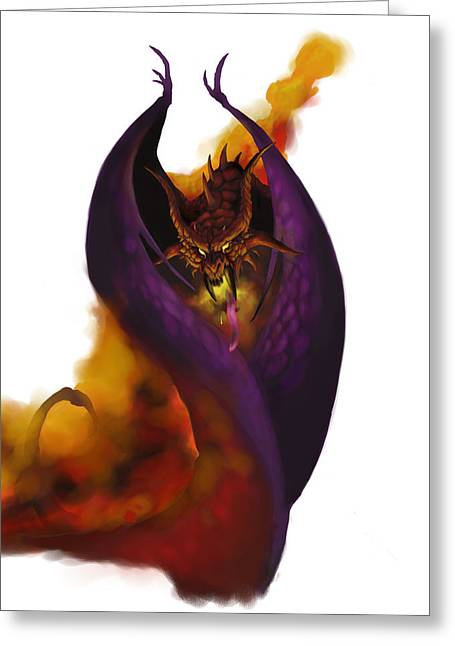 Dungeons Paintings Greeting Cards - Pit Fiend Greeting Card by Matt Kedzierski