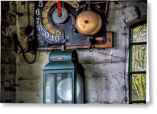 Pit Lift Control Greeting Card by Adrian Evans