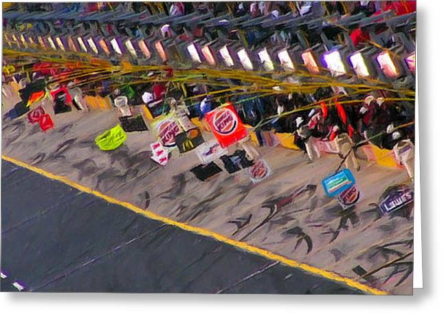 Pit Road Greeting Card by Kenneth Krolikowski