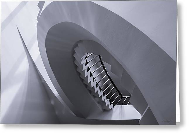 Zigzag Forms Greeting Cards - Pitch Perfect - Abstract Greeting Card by Steven Milner