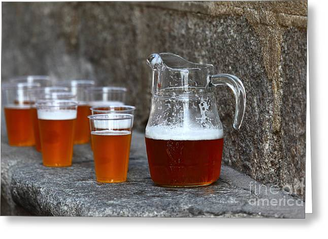 Local Food Photographs Greeting Cards - Pitcher and Friends Greeting Card by James Brunker