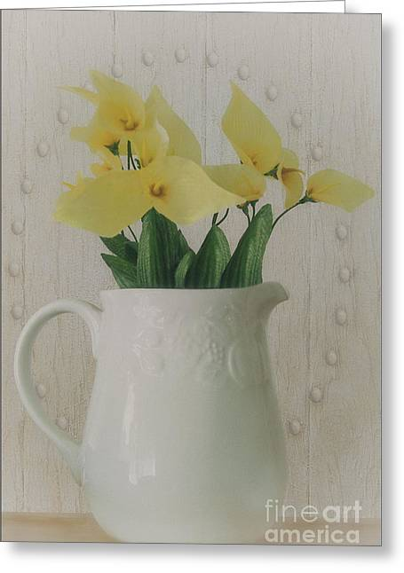 Flower Still Life Prints Photographs Greeting Cards - Pitcher Of Flowers Greeting Card by Tom York Images