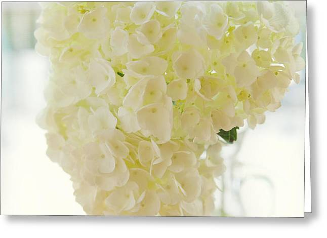 Pitcher of Hydrangeas Greeting Card by Kay Pickens