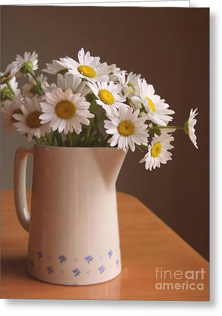 Daisy Greeting Cards - Pitcher of Spring Greeting Card by Diane Diederich