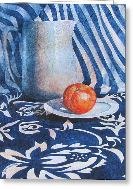 Pitcher With Fruit Greeting Card by Daydre Hamilton
