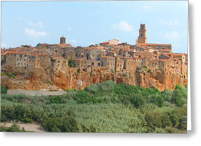 Sofa Size Greeting Cards - Pitigliano Panorama Greeting Card by Alan Socolik