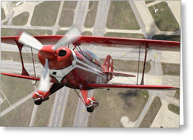 Framed Print Greeting Cards - Pitts Special S-2B Greeting Card by Larry McManus