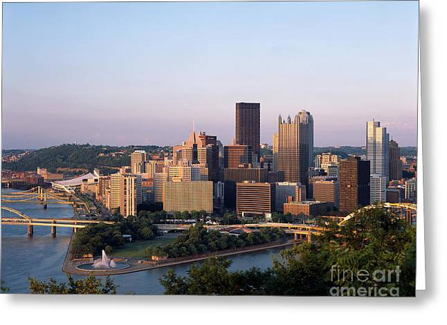 Allegheny River Greeting Cards - Pittsburg, Pennsylvania Greeting Card by Rafael Macia