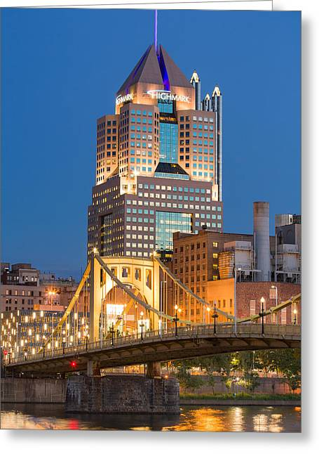 Pnc Park Greeting Cards - Pittsburgh 23 Greeting Card by Emmanuel Panagiotakis