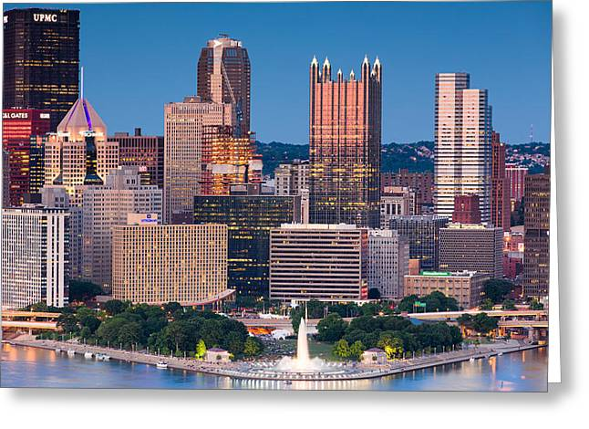 Console Energy Center Greeting Cards - Pittsburgh 60 Greeting Card by Emmanuel Panagiotakis