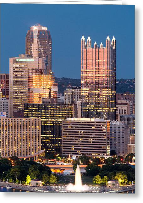 Console Energy Center Greeting Cards - Pittsburgh 61 Greeting Card by Emmanuel Panagiotakis