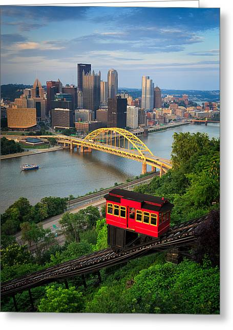 Console Energy Center Greeting Cards - Pittsburgh 62 Greeting Card by Emmanuel Panagiotakis