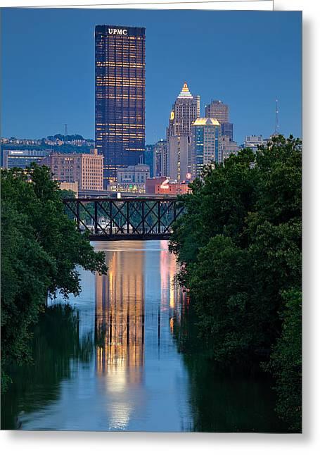Pittsburgh Skyline.fireworks Greeting Cards - Pittsburgh 67 Greeting Card by Emmanuel Panagiotakis