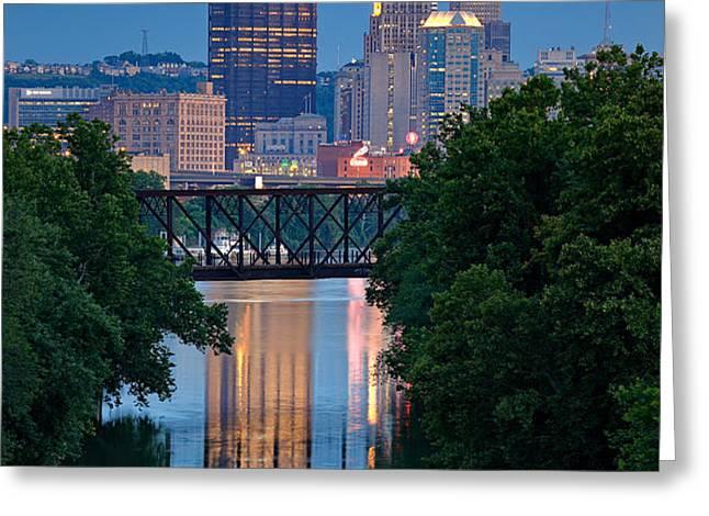 Pittsburgh 67 Greeting Card by Emmanuel Panagiotakis
