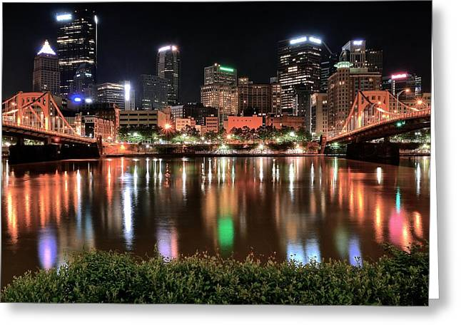 Roberto Greeting Cards - Pittsburgh Across the Allegheny Greeting Card by Frozen in Time Fine Art Photography