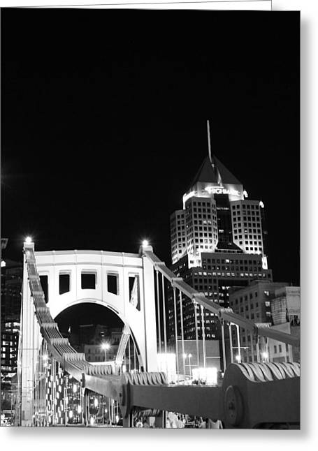 Clemente Greeting Cards - Pittsburgh Bridge Greeting Card by Josh Ebel