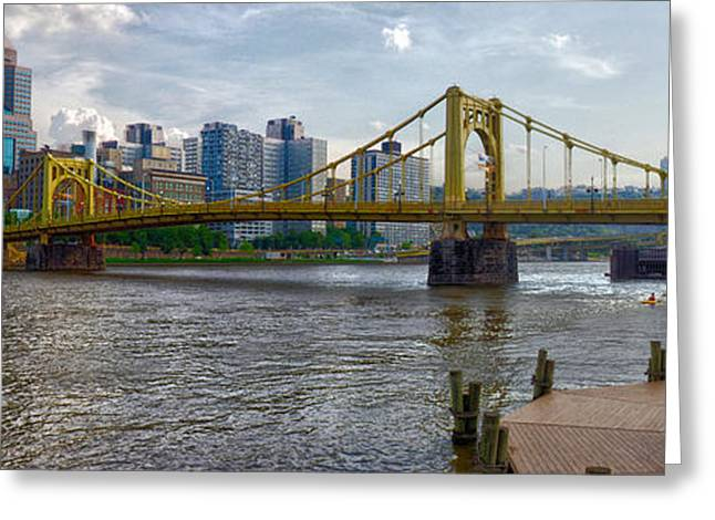 Clemente Greeting Cards - Pittsburgh Clemente Bridge Greeting Card by C H Apperson