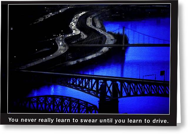 Profanity Greeting Cards - Pittsburgh Drivers Greeting Card by Mike Flynn