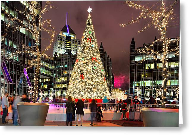 Pittsburgh Greeting Cards - Pittsburgh Holiday season 2 Greeting Card by Emmanuel Panagiotakis