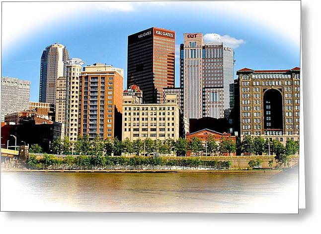 Pittsburgh In The Spotlight Greeting Card by Frozen in Time Fine Art Photography