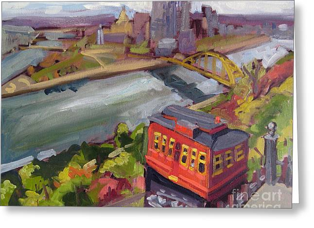 Incline Greeting Cards - PIttsburgh Incline of Mine Greeting Card by Tara Zalewsky