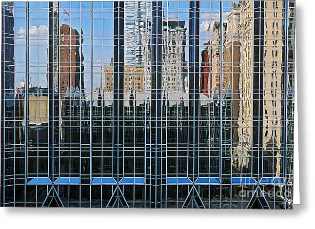 Glass Reflecting Greeting Cards - Pittsburgh Greeting Card by James L. Amos