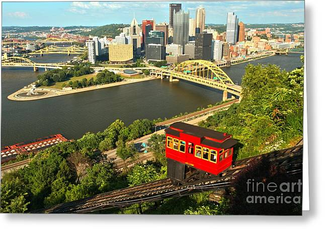 Duquesne Incline Greeting Cards - Pittsburgh Duquesne Incline Greeting Card by Adam Jewell