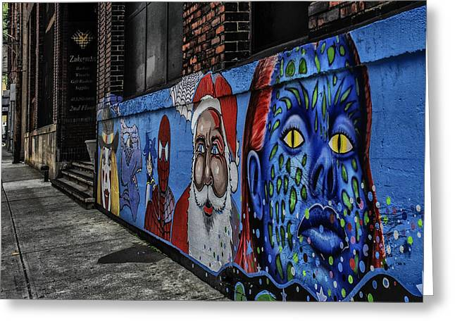 Pittsburgh Mural Greeting Card by Anthony Citro