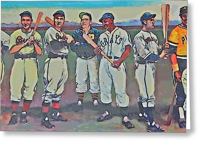 Clemente Greeting Cards - Pittsburgh Mural Greeting Card by Linda Vodzak
