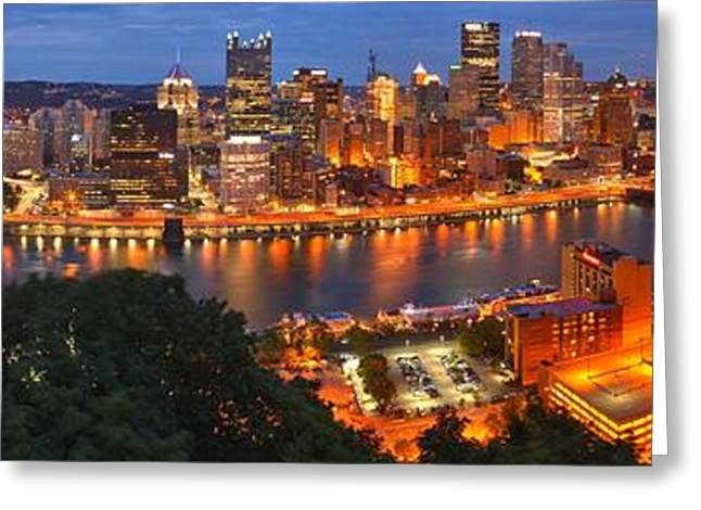 Pittsburgh Overlook Panorama Greeting Card by Adam Jewell