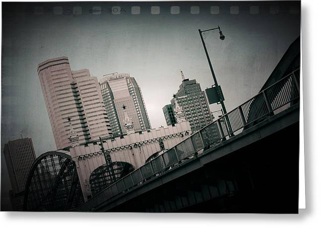 Pa Mixed Media Greeting Cards - Pittsburgh Skyline From Station Square Greeting Card by Kenneth Krolikowski