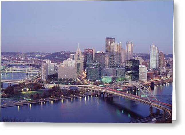 Pa.pennsylvania Greeting Cards - Pittsburgh Pa Greeting Card by Panoramic Images