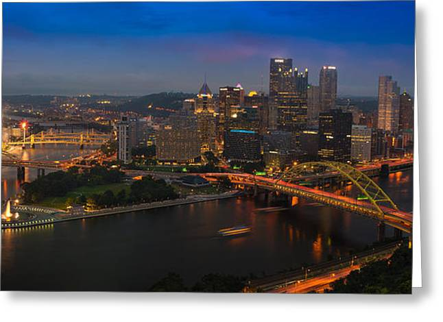 Monongahela River Greeting Cards - Pittsburgh PA Greeting Card by Steve Gadomski