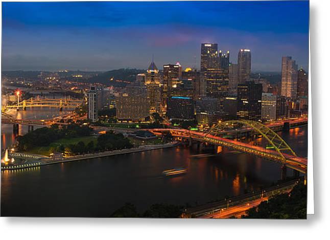 Pittsburgh Pa Greeting Card by Steve Gadomski