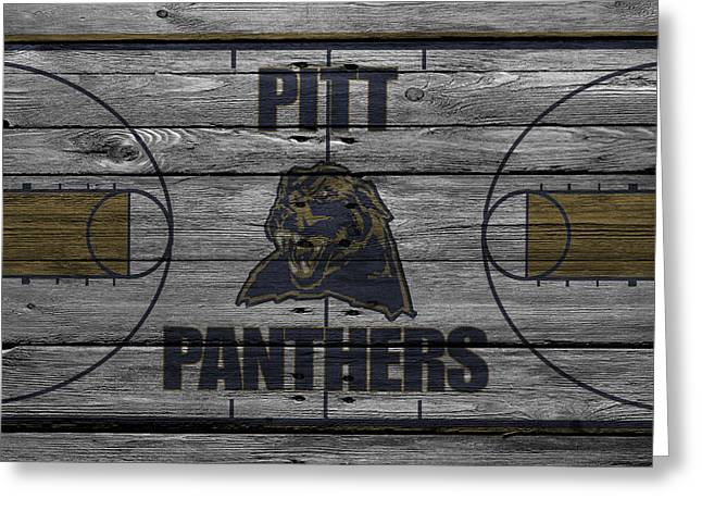 Division Greeting Cards - Pittsburgh Panthers Greeting Card by Joe Hamilton