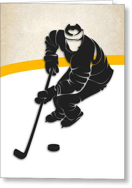 Pittsburgh Greeting Cards - Pittsburgh Penguins Rink Greeting Card by Joe Hamilton