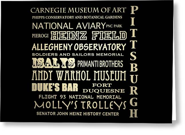 Carnegie Museum Of Art Greeting Cards - Pittsburgh Pennsylvania Greeting Card by Patricia Lintner
