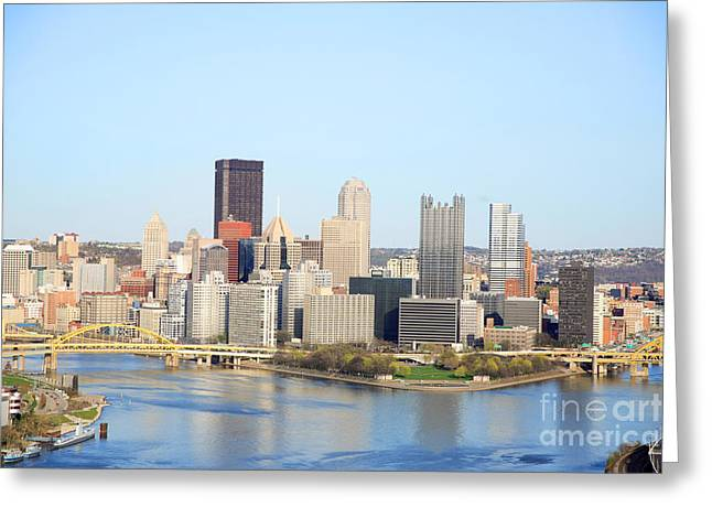 Pittsburgh Pennsylvania Greeting Card by Sharon Dominick