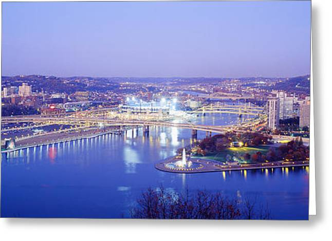 Monongahela River Greeting Cards - Pittsburgh, Pennsylvania, Usa Greeting Card by Panoramic Images