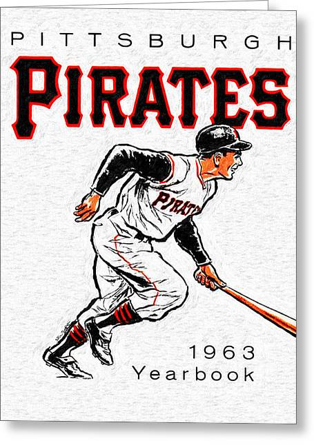 Hitter Paintings Greeting Cards - Pittsburgh Pirates 1963 Yearbook Greeting Card by Big 88 Artworks