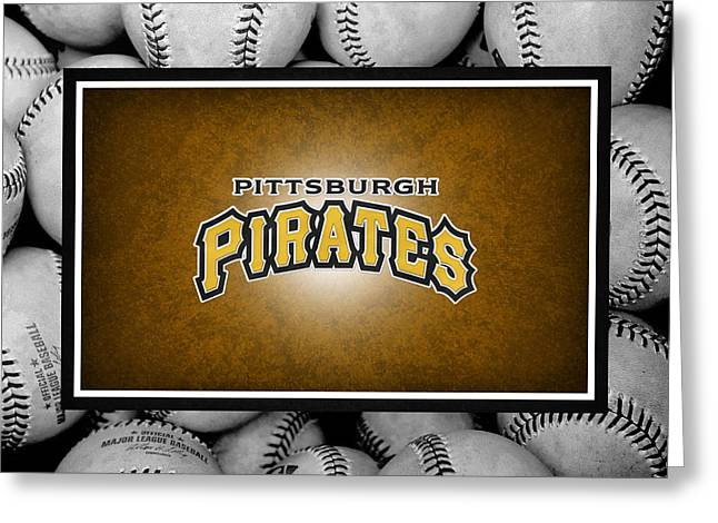 Pirates Greeting Cards - Pittsburgh Pirates Greeting Card by Joe Hamilton
