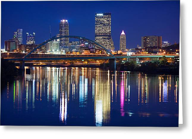 Pnc Park Greeting Cards - Pittsburgh Skyline 6 Greeting Card by Emmanuel Panagiotakis