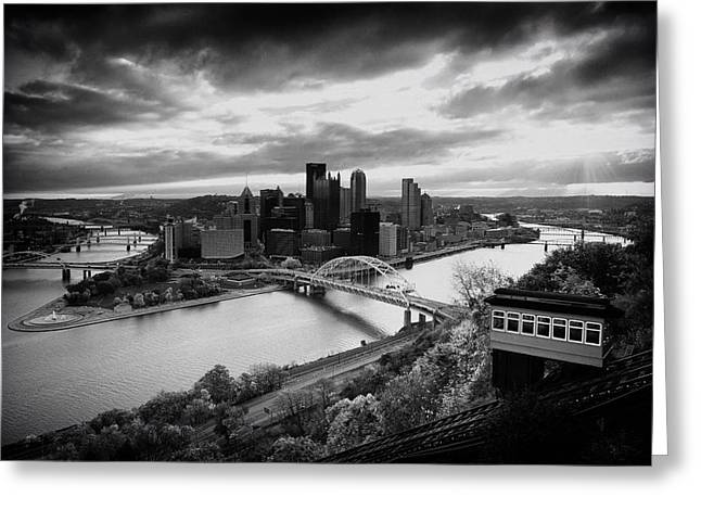 Allegheny River Greeting Cards - Pittsburgh Skyline1 Greeting Card by Emmanuel Panagiotakis