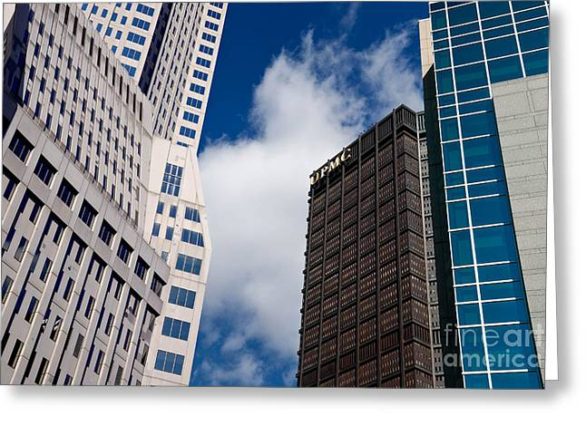 Skyscraper Greeting Cards - Pittsburgh Skyscrapers Greeting Card by Amy Cicconi