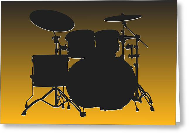 Pittsburgh Greeting Cards - Pittsburgh Steelers Drum Set Greeting Card by Joe Hamilton