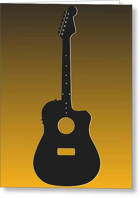 Pittsburgh Greeting Cards - Pittsburgh Steelers Guitar Greeting Card by Joe Hamilton