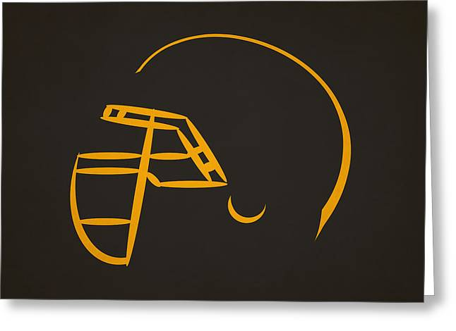 Pittsburgh Steelers Greeting Cards - Pittsburgh Steelers Helmet Greeting Card by Joe Hamilton