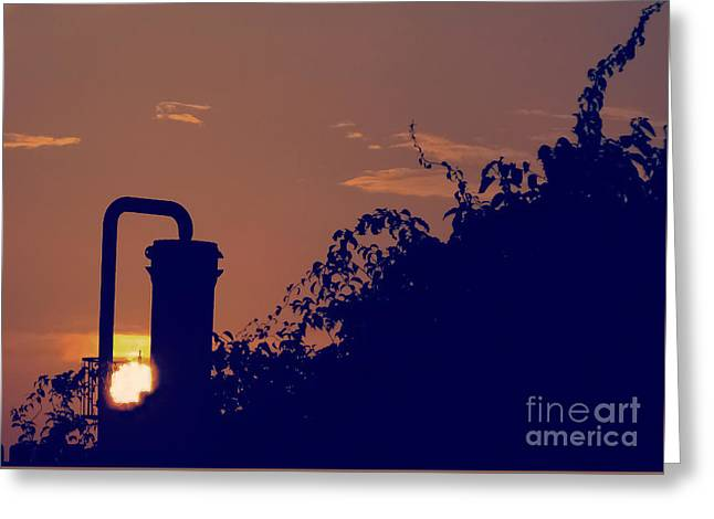 Pittsburgh Sunset  Greeting Card by Charlie Cliques