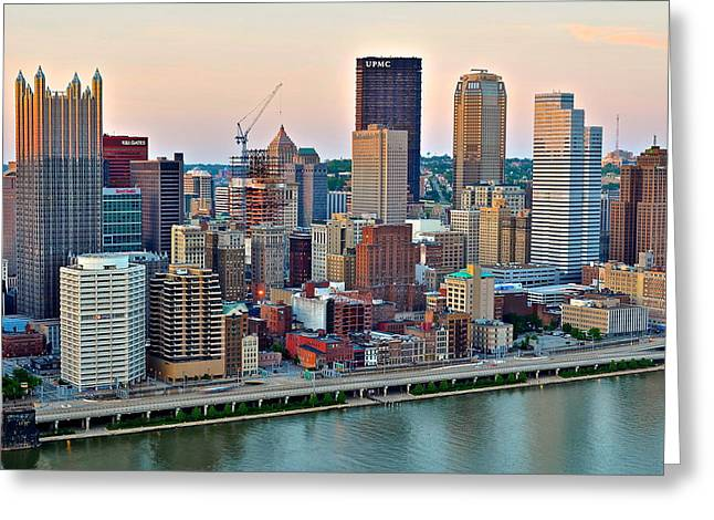 Upmc Greeting Cards - Pittsburgh Under Construction Greeting Card by Frozen in Time Fine Art Photography